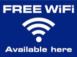 Free WiFi available here
