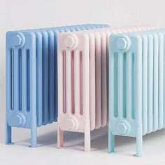 Bisque classic radiators in pastel shades