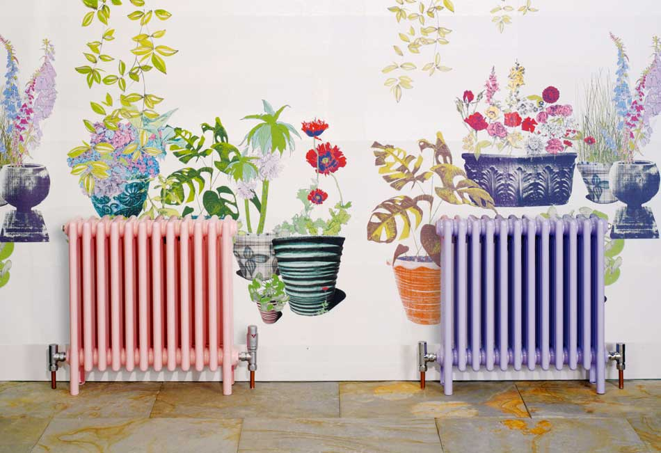 Bisque Classic Radiators in pink and mauve