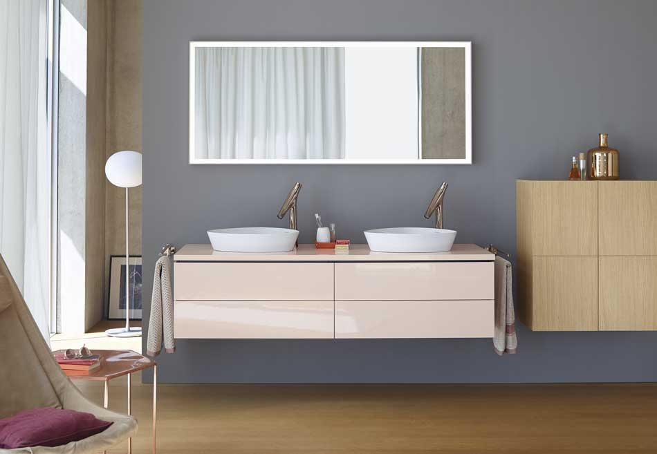 Duravit L-Cube double basin unit featured in Willbond's bathroom design trends