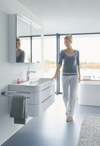 Duravit Happy D2 basin & wall mounted unit on display at our Nottingham & Derby Bathroom Centres