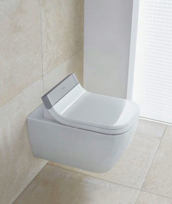 Duravit Happy D2 Wall Hung WC with SensoWash – working display at all our showrooms