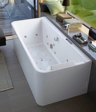 Duravit P3 Whirlpool Tub on display at Derby and Chesterfield
