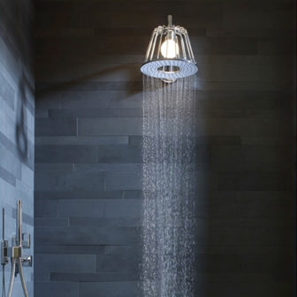 Axor Nendo combined shower & lamp on display at our Nottingham showroom