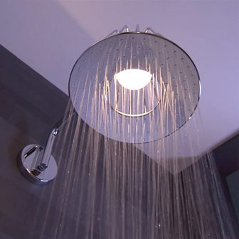 Axor's Nendo showerlamp which is on show at our Nottingham Bathroom Centre