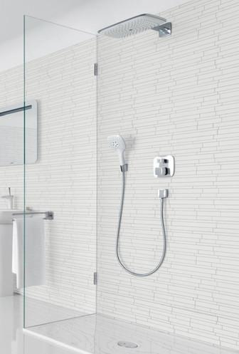 Hansgrohe PuraVida® hand and overhead showers on display at all of our Bathroom Centres