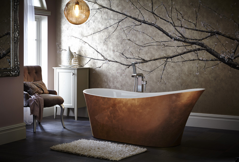 Heritage Holywell bath in Copper effect finish