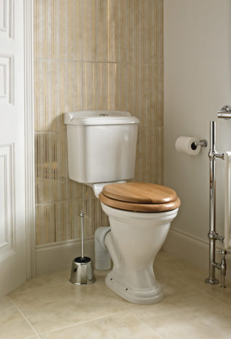 Heritage Dorchester freestanding WC on display at Grantham & Chesterfield