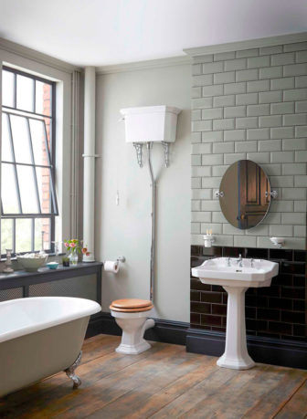 Heritage Granley basin & high level WC, see them on display at our Grantham Bathroom Centre