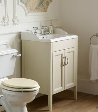 Heritage Dorchester vanity basin with Caversham unit