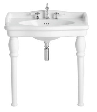 Heritage Victoria single console basin on display at our Derby showroom