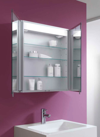 Keuco Royal T1 double door mirror cabinet on display at all our Bathroom Centres