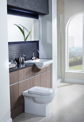 Utopia Luca on display at Nottingham, pictured in Bleached Walnut Cameo units