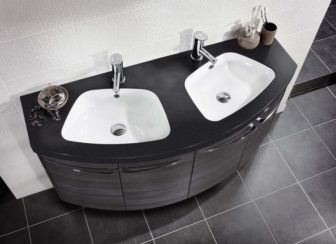 Utopia Symmetry double basin unit on display at our Grantham Bathroom Centre