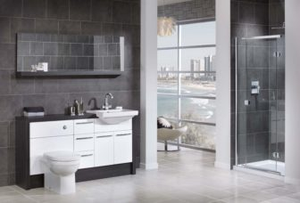 Utopia Nadia on display at all of our showrooms, shown here in white gloss with Black Linear i-Line framing