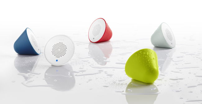 Moxie bluetooth showerhead speakers