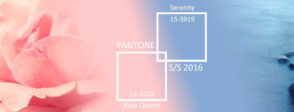 Pantone Colours of the Year Rose Quartz and Serenity