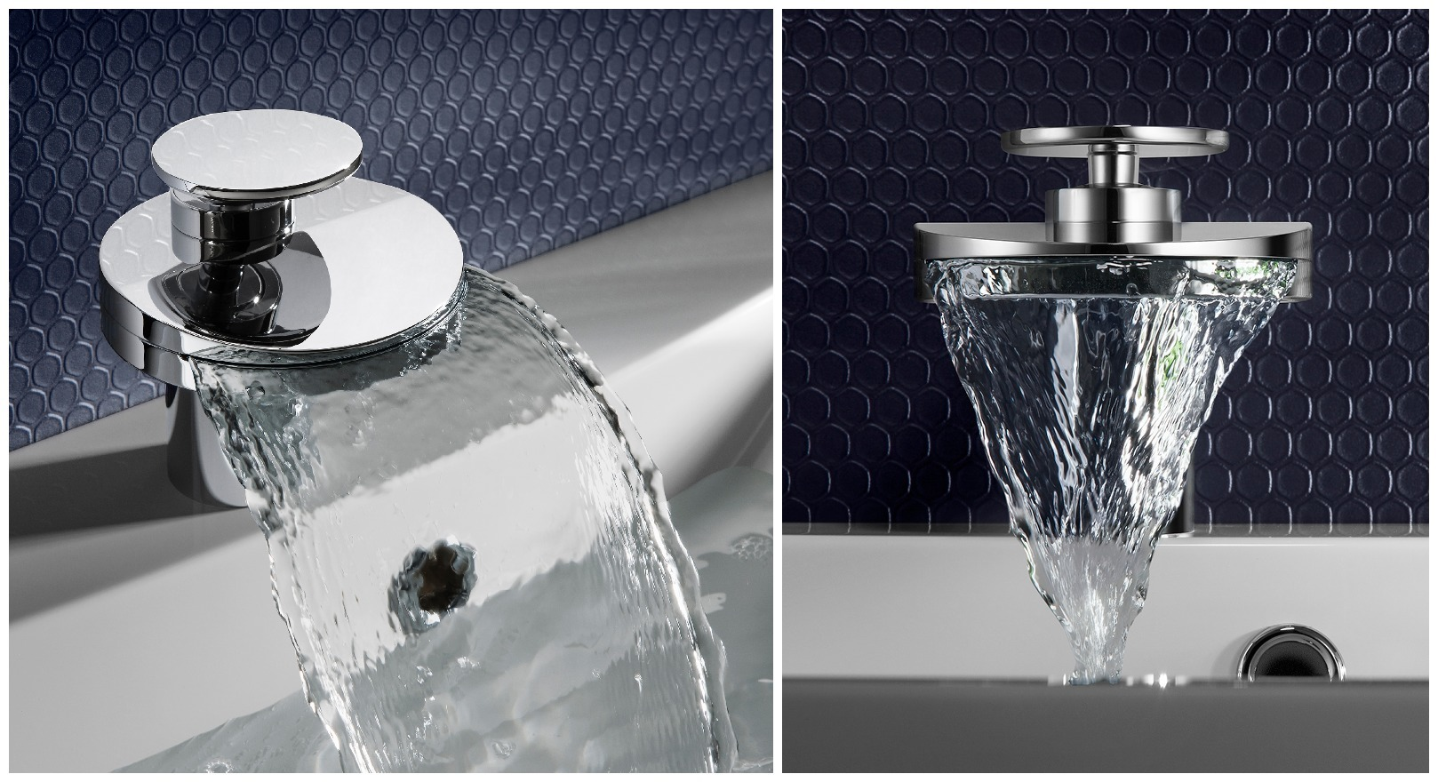 Curved bathroom accessories