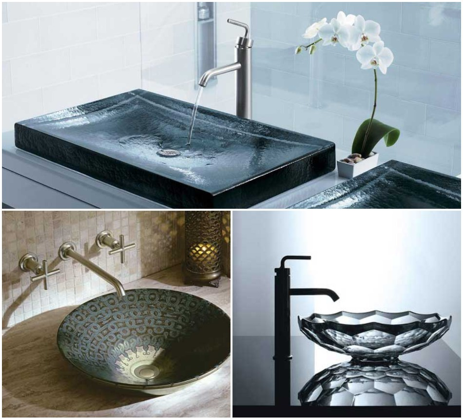Kohler coloured basins
