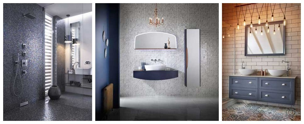 Navy bathroom trends