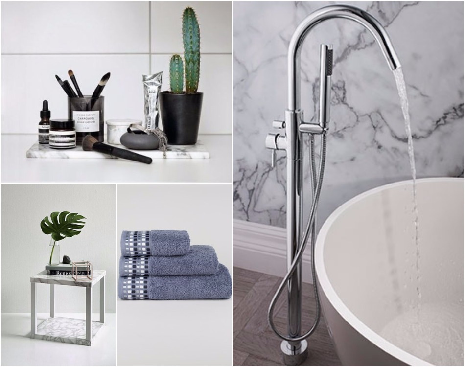All the latest bathroom design and colour trends for 2017 for Marble bathroom accessories uk