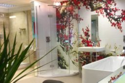 Walk-in showers, wetrooms and wall graphics on display in Nottingham